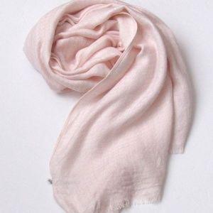 Calvin Klein Pink Blush Cotton Blend Scarf Wrap